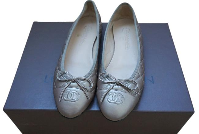 Item - Metallic Gold Classic Quilted with Cc Logo Flats Size US 8.5 Narrow (Aa, N)