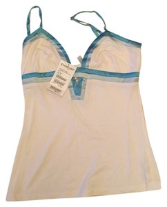 bebe Top White with blue