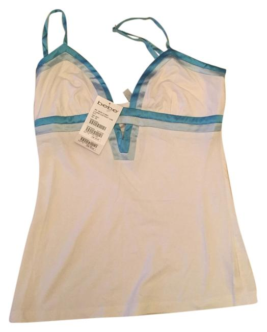 Preload https://item5.tradesy.com/images/bebe-white-with-blue-tank-topcami-size-2-xs-5870419-0-0.jpg?width=400&height=650