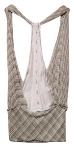 Free People Boho Top Blue, green, white