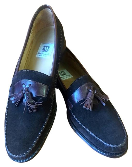 Item - Black Suede Mens Loafers Flats Size US 10 Narrow (Aa, N)