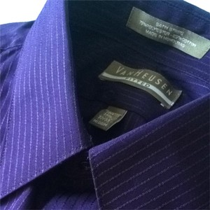 Van Heusen Button Down Shirt Royal Purple