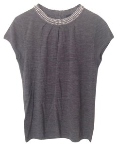 Ann Taylor Top Dark Grey