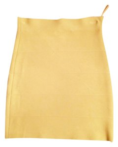 BCBGMAXAZRIA Mini Skirt Yellow/lime green