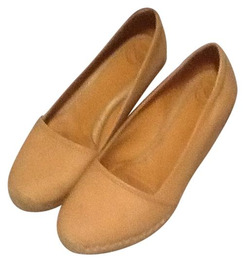 Nurture brand all leather espadrilles. Leather insole. Nude Espadrilles Wedges