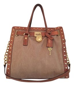 Michael Kors Hamilton Studded Leather Shoulder Bag
