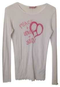 Juicy Couture T Shirt Pink on White