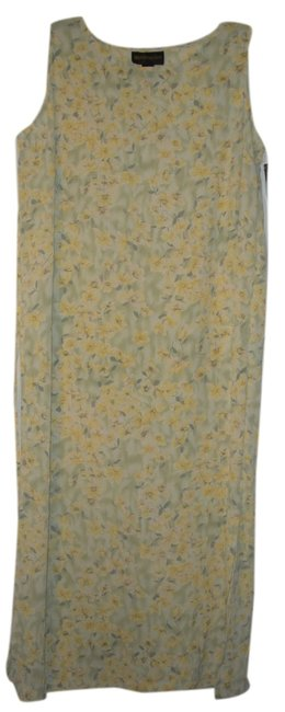 Yellow & Yellow/green floral print 16w Maxi Dress by Requirements
