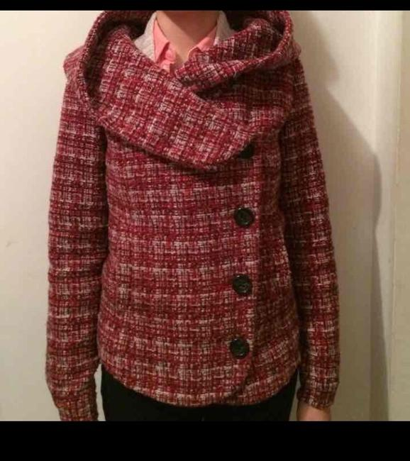 Urban Outfitters Button Hooded Multicolor Pea Coat