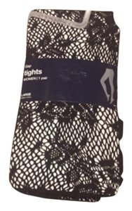 Gap fish net flower print tights size large