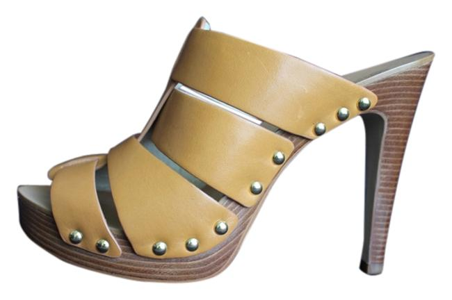 Item - Peanut Somerly Platform/High Heel Open Toe Mules/Slides Size US 9.5 Regular (M, B)