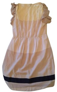 Ann Taylor LOFT short dress Beige with black on Tradesy