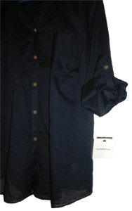 Croft & Barrow Button Down Shirt Deep Navy Blue 2x