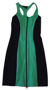 INC International Concepts short dress Green with black on Tradesy