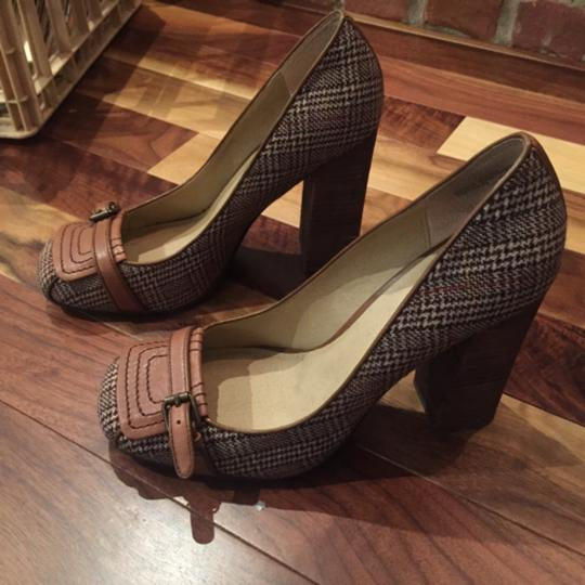 Other Mary Jane Tan Brown Cute Work Tall Heel Pumps