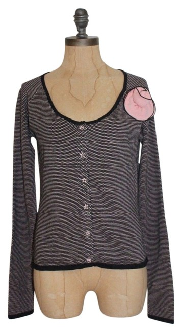 Anthropologie Odille Sweater Dpolka Dot Cardigan