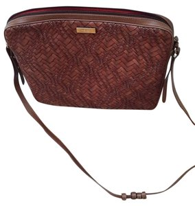 Cole Haan Leather Woven Laptop Bag