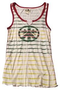 Lucky Brand Top Red Yellow Green
