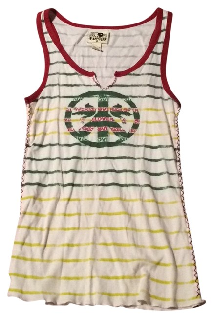 Lucky Brand Top Red Yellow Green Image 0