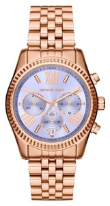 Michael Kors Michael Kors Women's Chronograph Lexington Rose Gold-Tone Stainless Steel Bracelet Watch 38mm MK6207