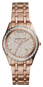 Michael Kors Michael Kors Women's Kiley Rose Gold-Tone Stainless Steel Bracelet Watch 34mm MK6146