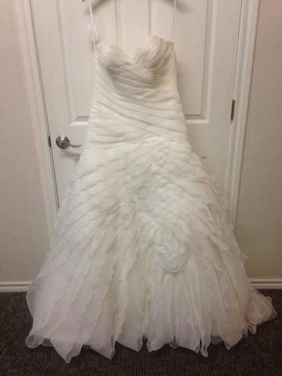 Allure Bridals Ivory 8921 Traditional Wedding Dress Size 12 (L)