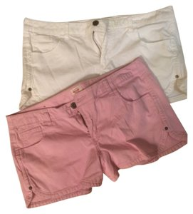Mossimo Supply Co. Mini/Short Shorts Pink and white