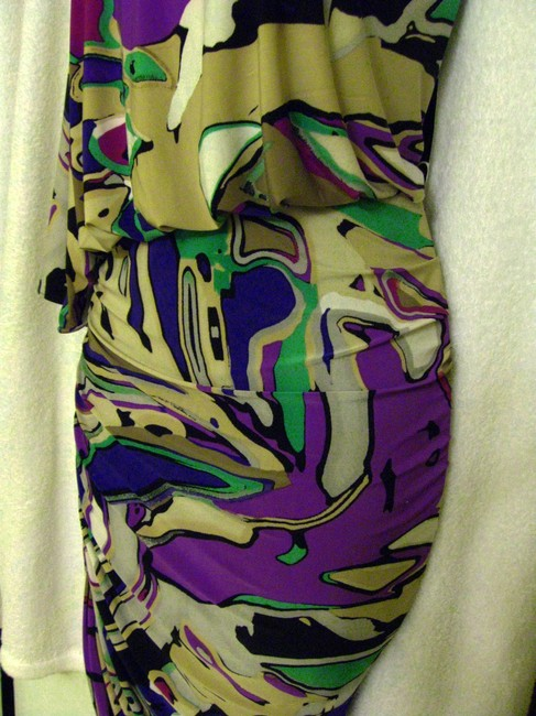 Nine West short dress Multi-Color Stretchy Ruched Straight Pencil Skirt Nwt-$129 on Tradesy