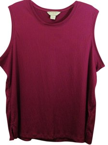 Allison Daley Plus-size Sleeveless Shell Top Fashion Fuchsia