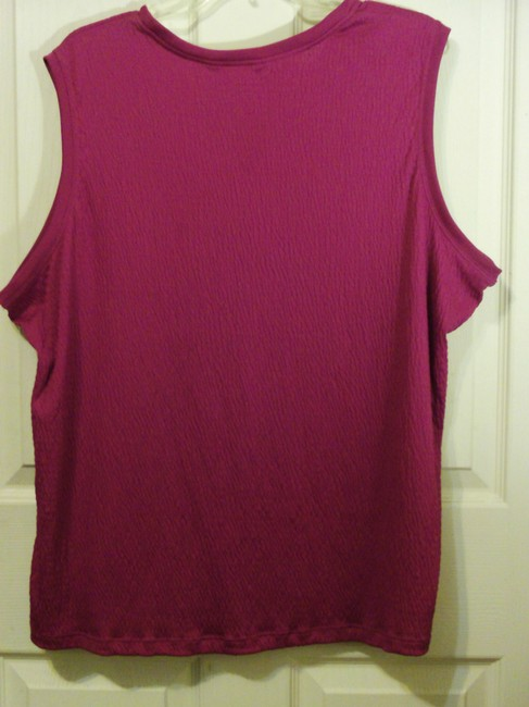 Allison Daley Plus-size Sleeveless Shell Top Fashion Fuchsia Image 1