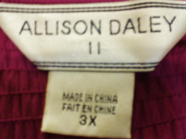 Allison Daley Plus-size Sleeveless Shell Top Fashion Fuchsia Image 3