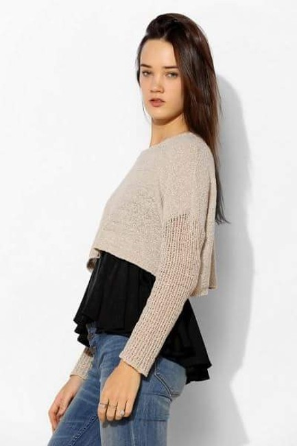 Urban Outfitters Starring Stars Cropped Uo Anthropologie Sweater