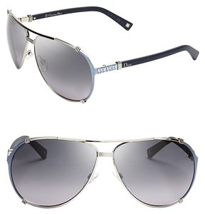 5f1e09fa7aea Dior Dior  Chicago 2 Strass  63mm Aviator Sunglasses Silver Light Blue  Black Strass