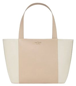 Kate Spade Harmony Bromley Tote in white, beige