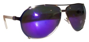 Dior Dior 'Chicago 2' 63mm Mirrored Aviator Sunglasses Blue White/Grey Violet Mirror