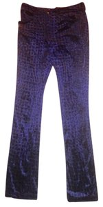 Betsey Johnson Pockets Washable Straight Pants Purple
