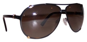 Dior Dior 'Chicago 2' 63mm Aviator Sunglasses Black/Brown Shaded