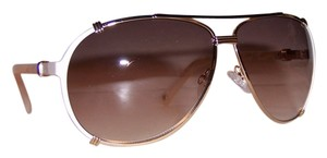 Dior Dior 'Chicago 2' 63mm Aviator Sunglasses Pink Cream Pink Mother Pearl/Brown Violet Shaded