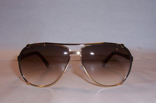 Dior Dior 'Chicago 2' 63mm Aviator Sunglasses Gold Dark Brown Spotted Brown/Grey Violet Shaded