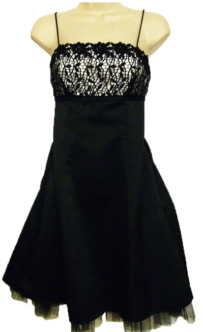 Preload https://item2.tradesy.com/images/betsy-and-adam-black-and-white-spaghetti-strap-with-sequins-knee-length-cocktail-dress-size-4-s-5874301-0-0.jpg?width=400&height=650