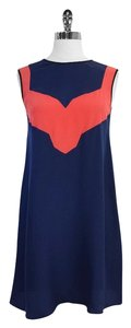 Jason Wu short dress Navy Coral Silk Sleeveless Trapeze on Tradesy