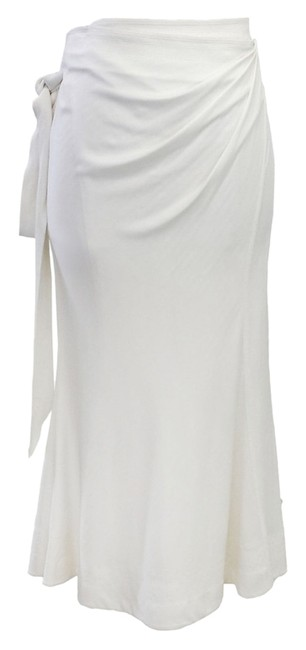 Donna Karan Cream Wrap Skirt