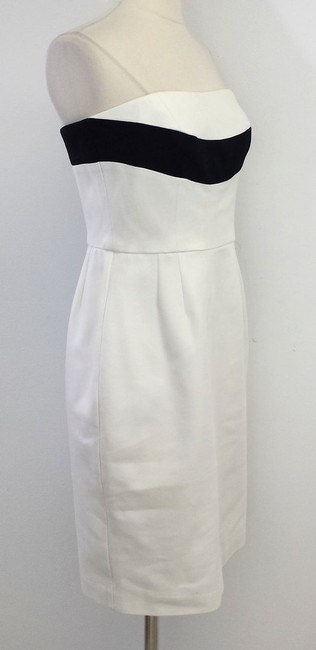 Trina Turk short dress White Black Strapless on Tradesy