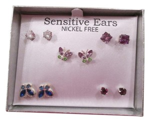 jcp JcPenny Butterfly Earrings, 5 pairs/Brand new/never used!