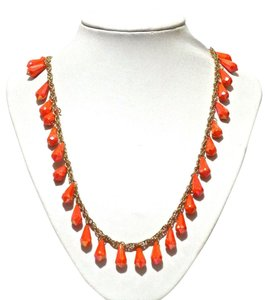 Kate Spade Kate Spade New York Orange Shimmer Long Necklace
