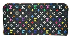 Louis Vuitton Mint Authentic Louis Vuitton Multicolore Monogram Noir Insolite Wallet with Grenade Interior