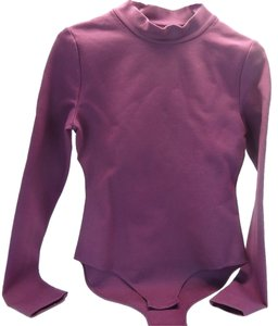 Kate Spade Kate Spade Saturday Turtleneck Bodysuit Plum Purple 571 Size Small