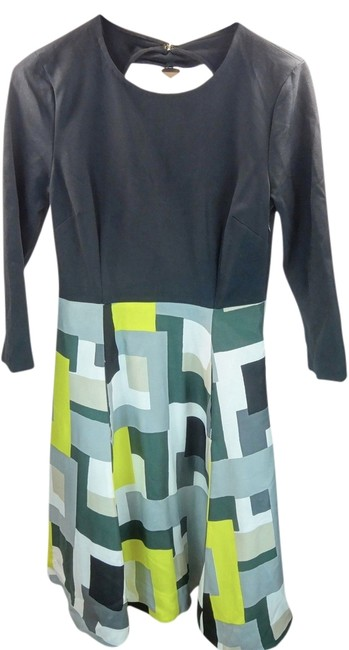 Kate Spade short dress New York 3/4 Sleeve Black Crew Neck Fit Flare Size 4 on Tradesy