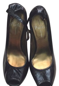 Paolo Black and gold Pumps