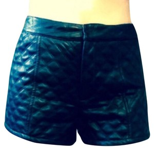 Faux leather shorts Mini/Short Shorts Blac